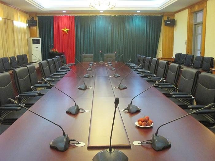 Lắp đặt âm thanh phòng họp cho bộ chỉ huy quân sự tỉnh Hải Dương