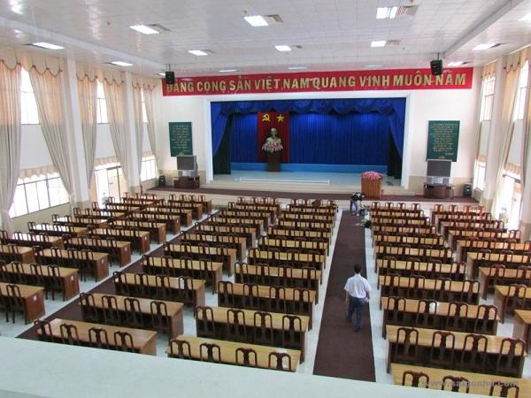 Dự án lắp đặt âm thanh từ xa cho hội trường tỉnh ủy Ninh Bình