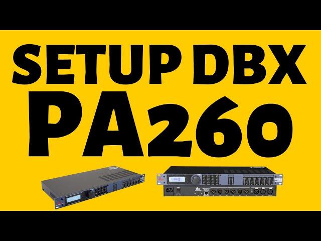 Hướng dẫn sử dụng DriveRack DBX PA 260