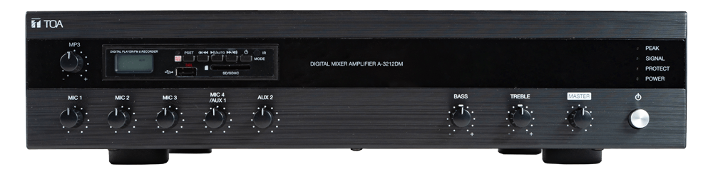 Tăng âm liền Mixer với MP3 TOA A-3212DM