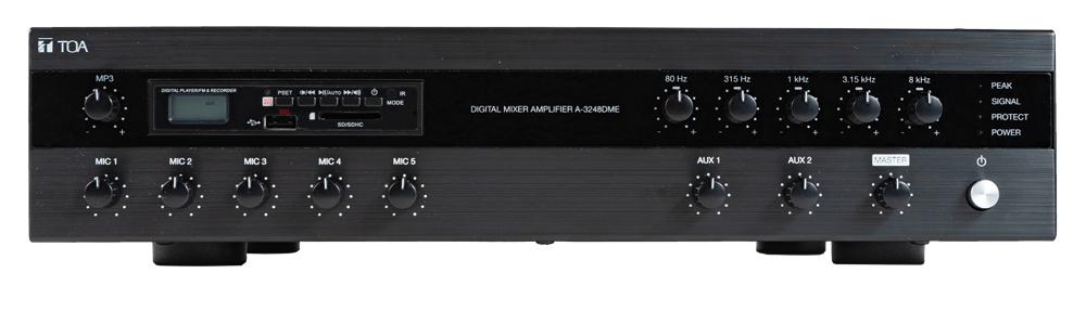 Tăng âm Toa liền Mixer với MP3,EQ A-3248DME